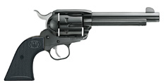 Ruger New Vaquero in blued and case-colored.