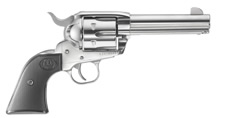 Ruger New Vaquero in Stainless Steel.