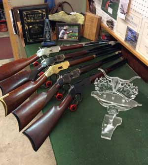 Some of the 1873 Uberti rifles Jimmy can customize for you ...